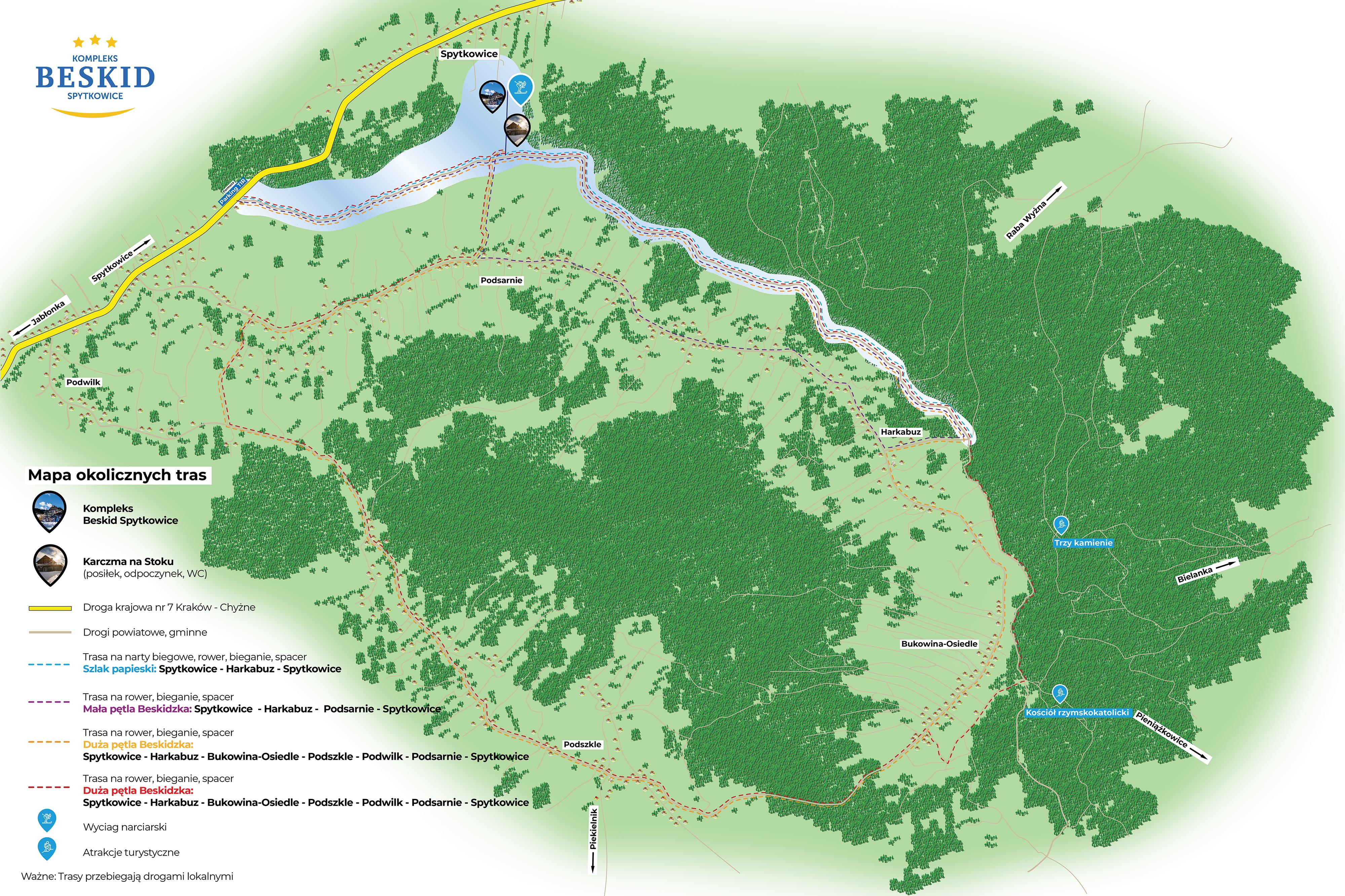 Mapa Szlak Papieski